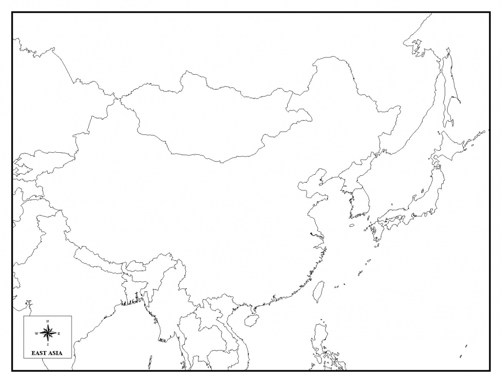 Printable Map Asia With Countries And Capitals Noavg Outline Of East throughout Asia Outline Map Printable