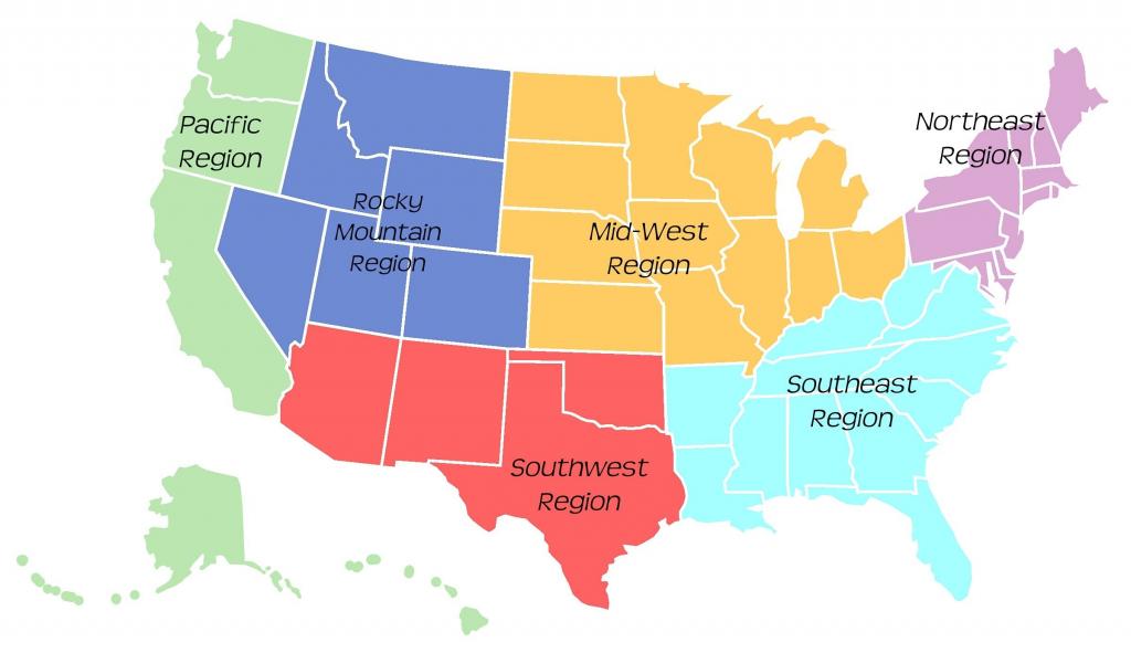 Printable Map Northeast Region Us Save 5 Regions Usa Map Image Usa for Us Regions Map Printable
