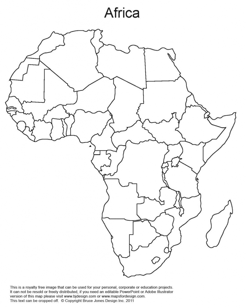 Printable Map Of Africa | Africa World Regional Blank Printable Map for Map Of Africa Printable Black And White