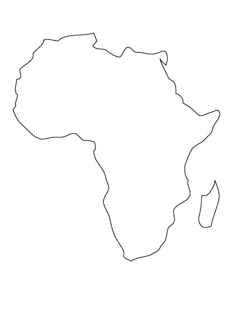Printable Map Of Africa | Preschool | Africa Map, Africa Drawing with regard to Africa Outline Map Printable