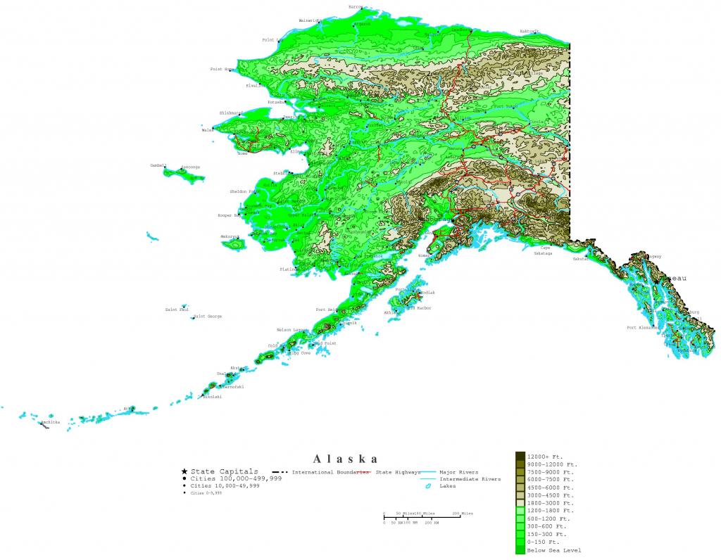 Printable Map Of Alaska And Travel Information   Download Free for Printable Map Of Alaska