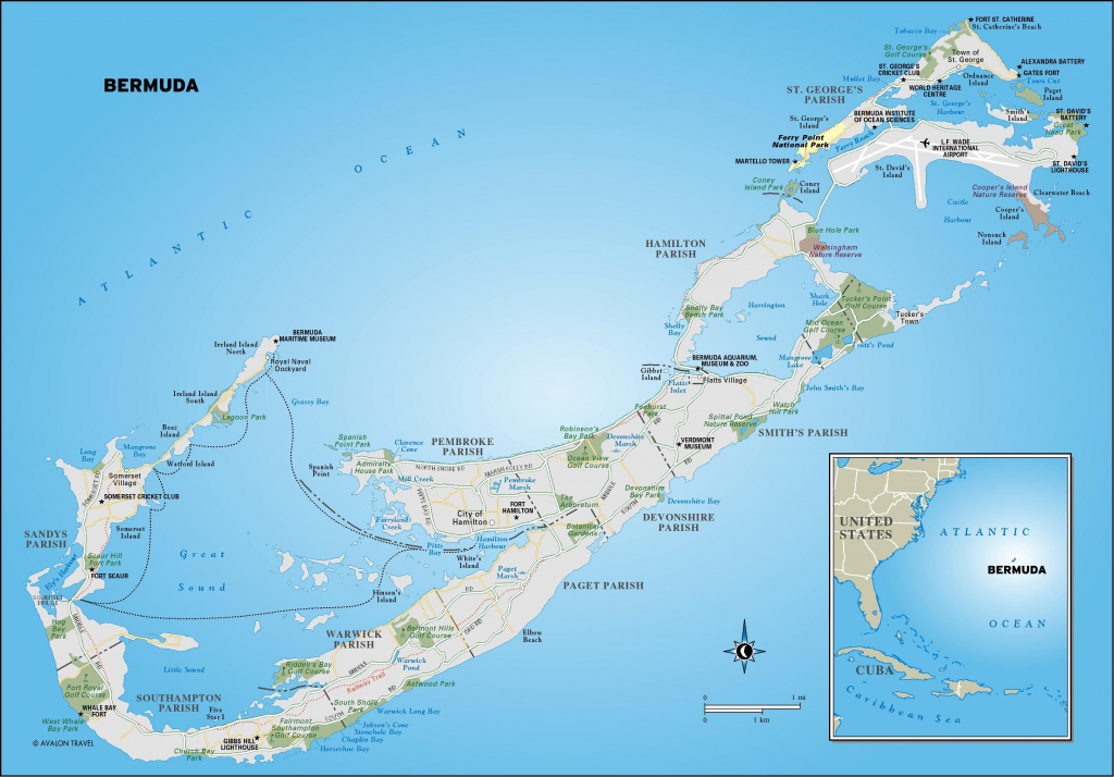 Printable Map Of Bermuda | Map Of Bermuda. Free Download Large pertaining to Printable Map Of Bermuda