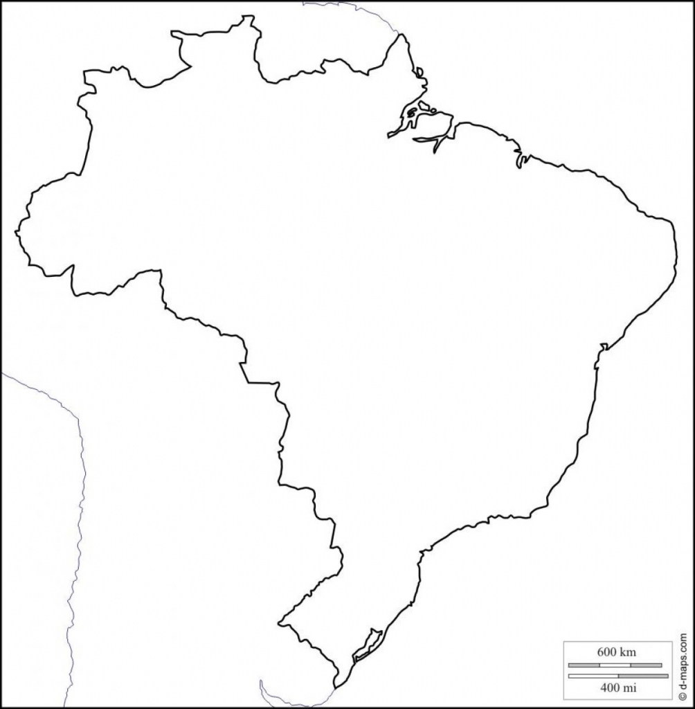 Printable Map Of Brazil - Free Printable Map Of Brazil (South pertaining to Printable Map Of Brazil