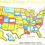 Printable Map Of California For Kids Free Printable Map Us Printable In Printable State Maps For Kids