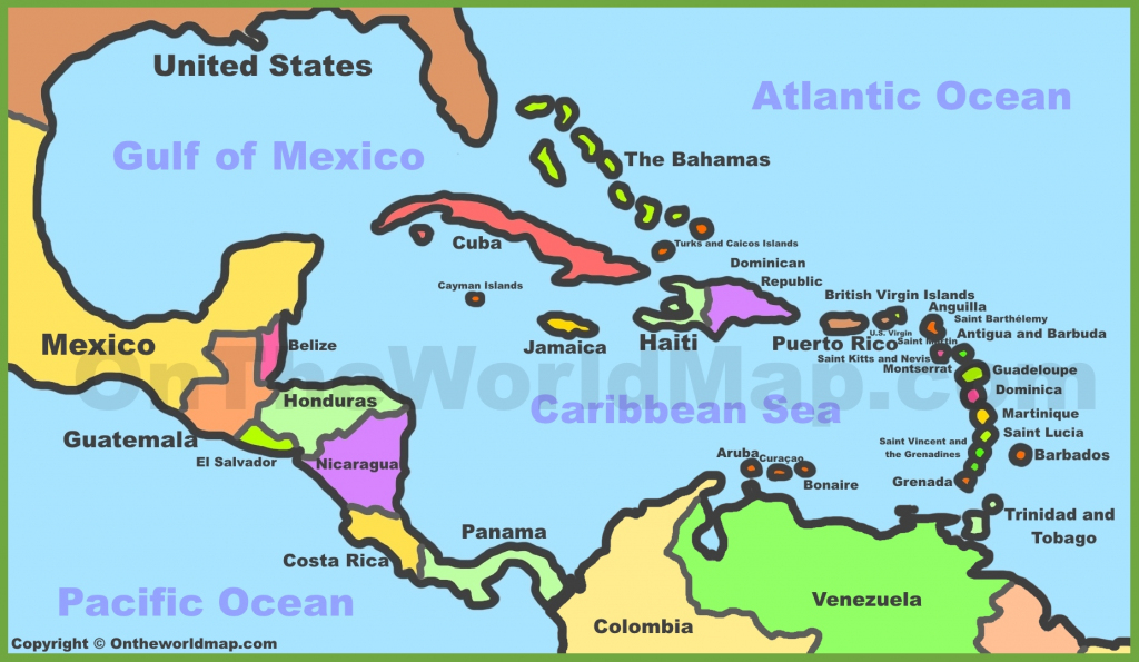 Printable Map Of Caribbean Islands And Travel Information | Download within Free Printable Map Of The Caribbean Islands