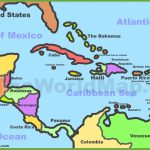 Printable Map Of Caribbean Islands And Travel Information | Download Within Printable Map Of The Caribbean
