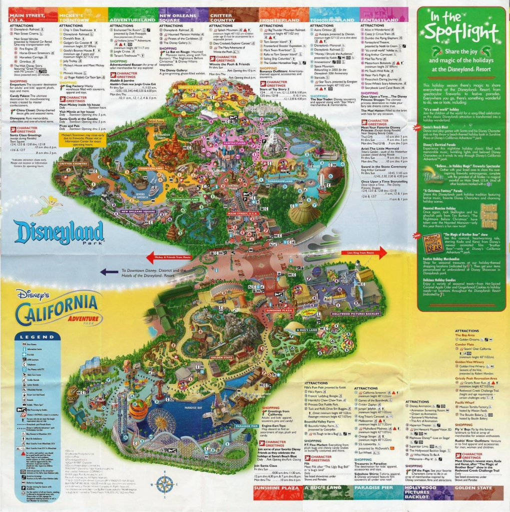 Printable Map Of Disneyland And California Adventure Fresh with regard to Printable Disneyland Park Map