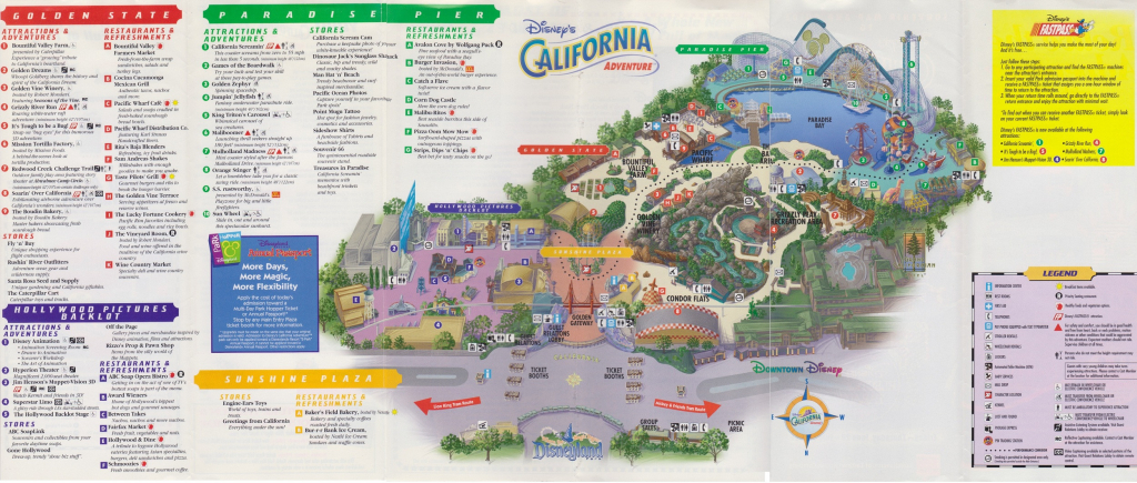 Printable Map Of Disneyland And California Adventure Reference Map throughout Printable Disneyland Map 2015