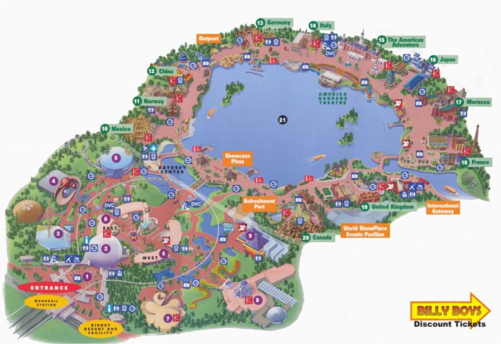 Printable Map Of Disneyland California
