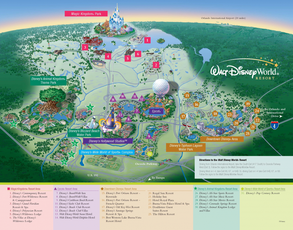 Printable Map Of Disneyland California Printable Walt Disney World throughout Printable Disney World Maps