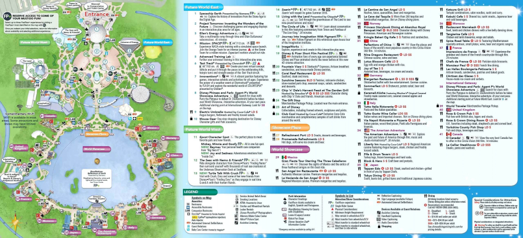 Printable Map Of Disneyland California Valid Walt Disney World regarding Printable Epcot Map 2017
