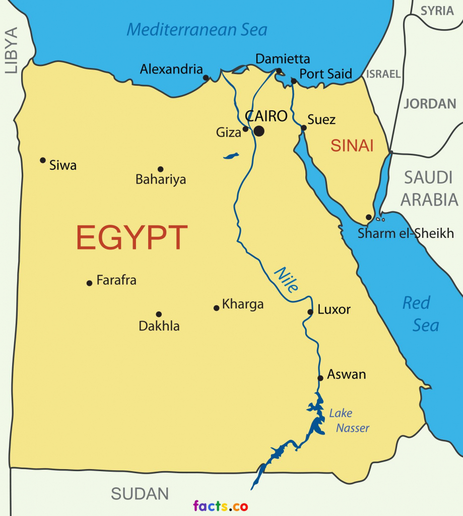 Printable Map Of Egypt - Map Of Egypt Printable (Northern Africa regarding Printable Map Of Egypt