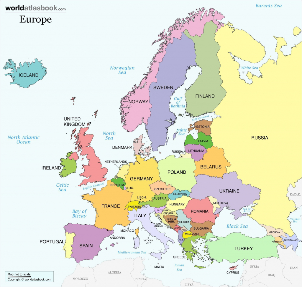 Printable Map Of European Countries Elegant Europe With And Capitals with regard to Printable Map Of Europe With Countries