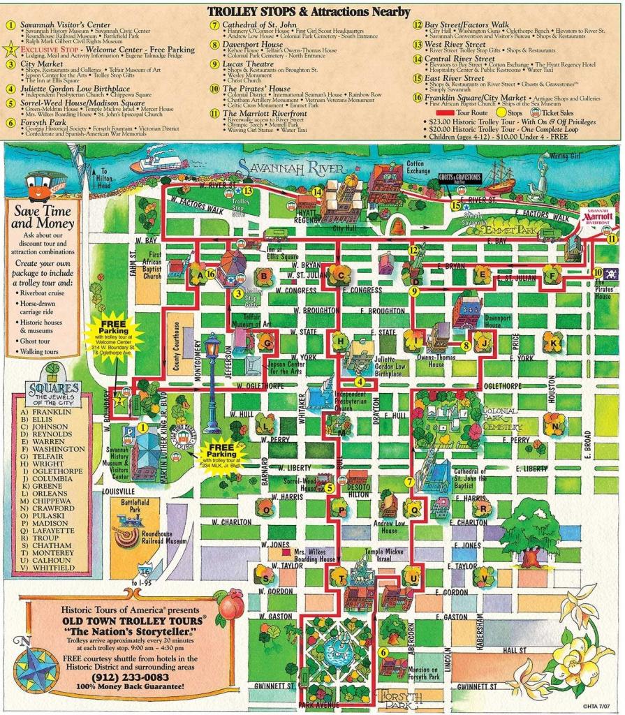 Printable Map Of Historic Savannah | Reasons Why Savannah Is The for Printable Map Of Savannah Ga