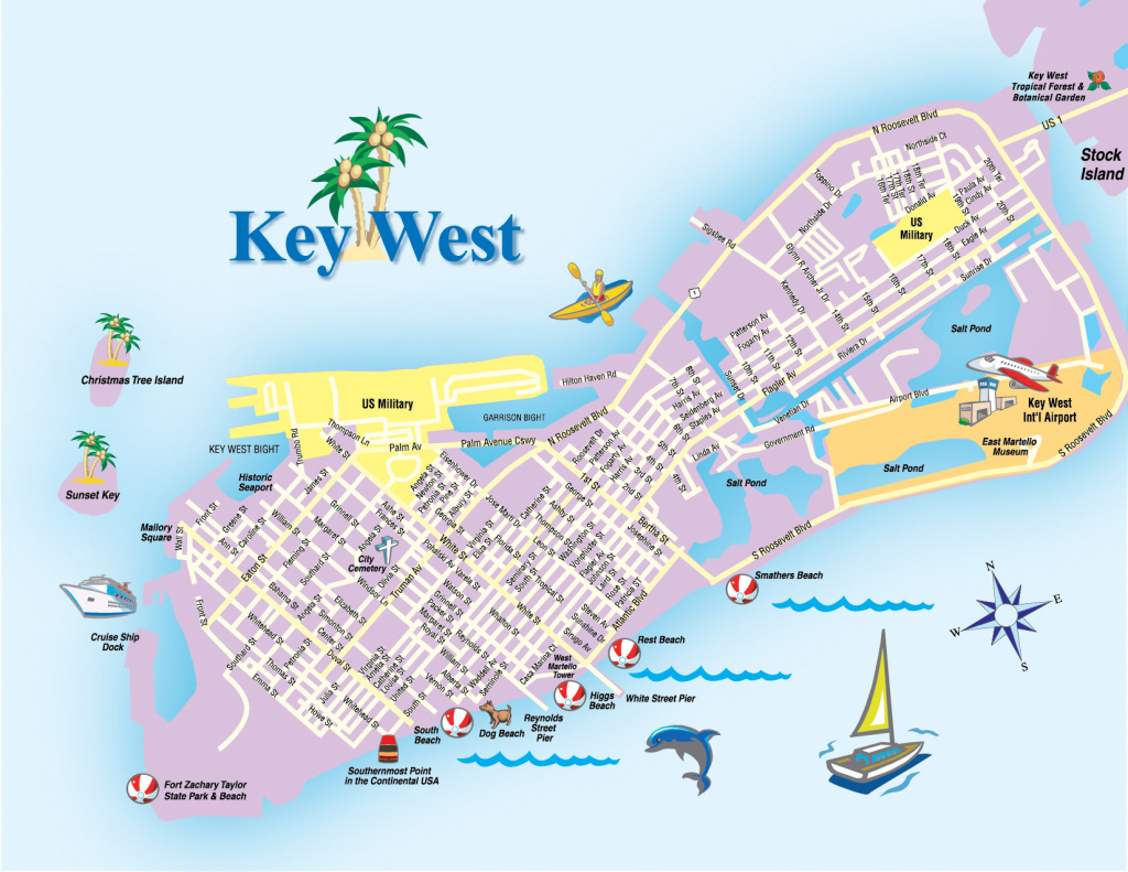 Printable Map Of Key West Florida Streets Hotels Area Attractions Pdf with Printable Map Of Key West
