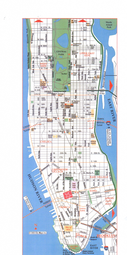 Printable Map Of Manhattan | Camping Map with Printable Map Of Manhattan