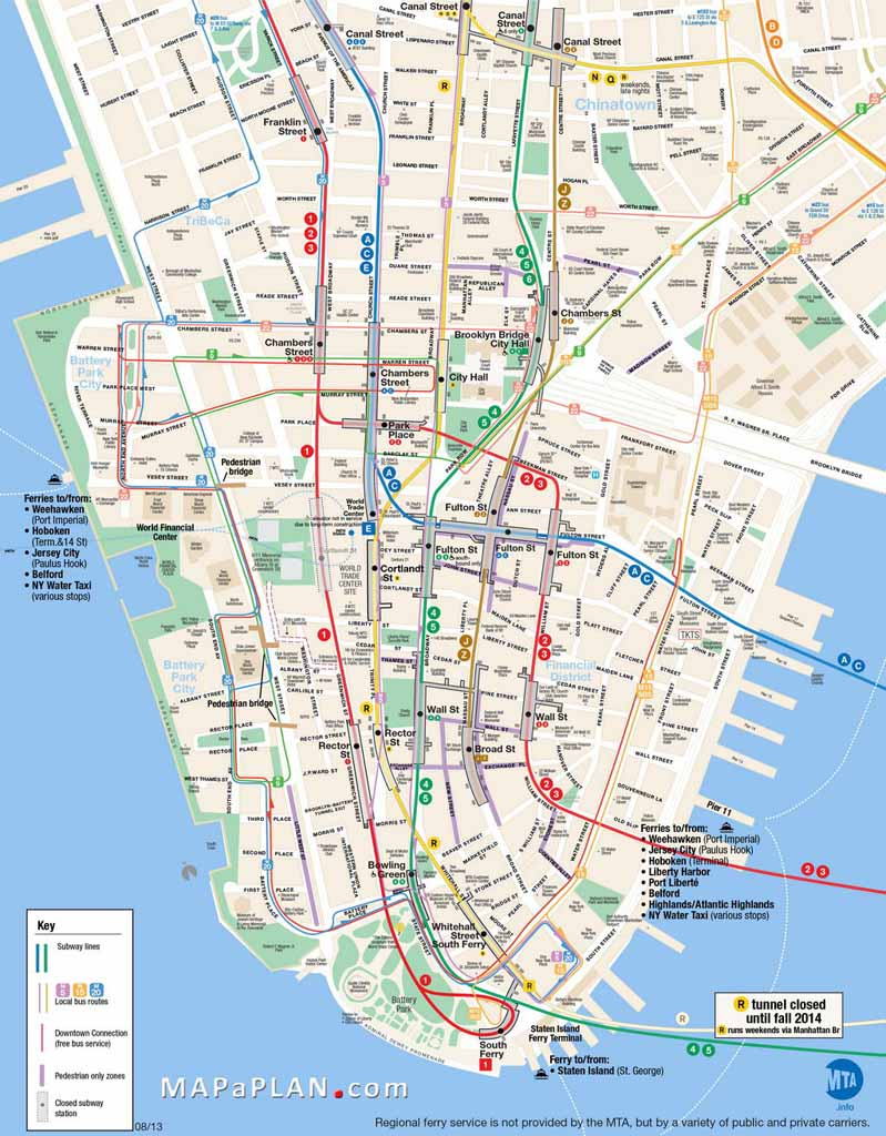 Printable Map Of Manhattan Ny | Travel Maps And Major Tourist - Free throughout New York City Maps Manhattan Printable