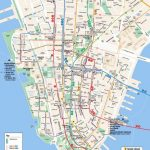 Printable Map Of Manhattan Ny | Travel Maps And Major Tourist   Free With Regard To Manhattan City Map Printable