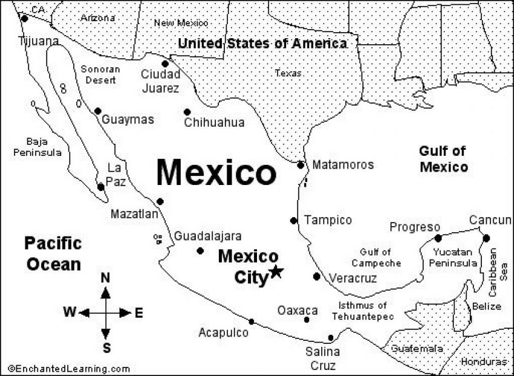 Printable Map Of Mexico - Printable Mexico Map (Central America with regard to Printable Map Of Mexico