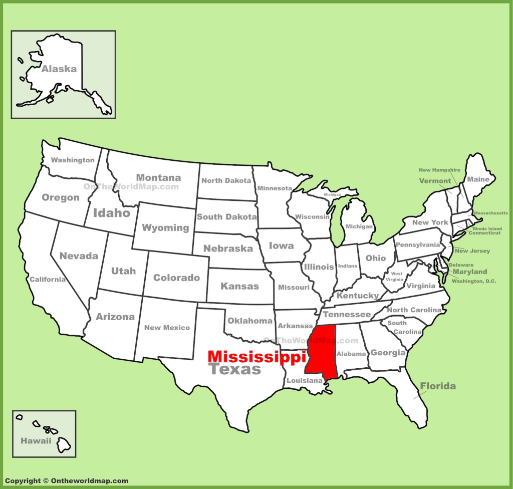 Printable Map Of Mississippi And More intended for Printable Map Of Mississippi