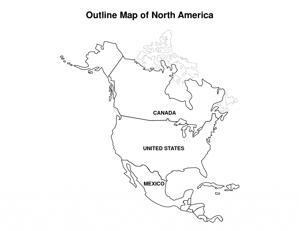 Printable Map Of North America | Pic Outline Map Of North America for North America Political Map Printable