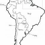 Printable Map Of North And South America And Travel Information With Free Printable Map Of South America