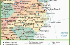 Printable Map Of North Carolina Cities