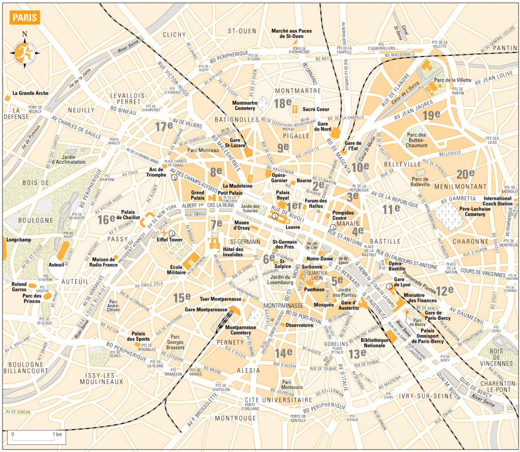 Printable Map Of Paris France 3 | Globalsupportinitiative within Printable Map Of Paris