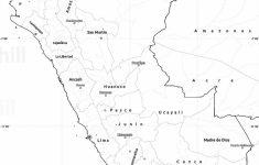 Printable Map Of Peru
