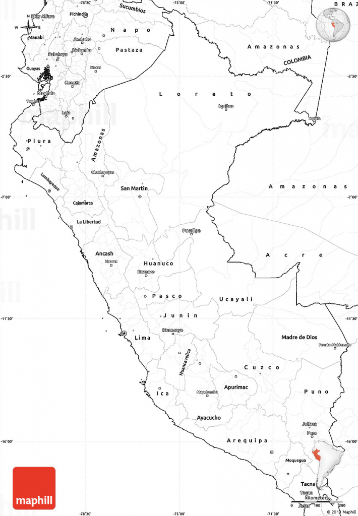 Printable Map Of Peru And Travel Information | Download Free with Printable Map Of Peru