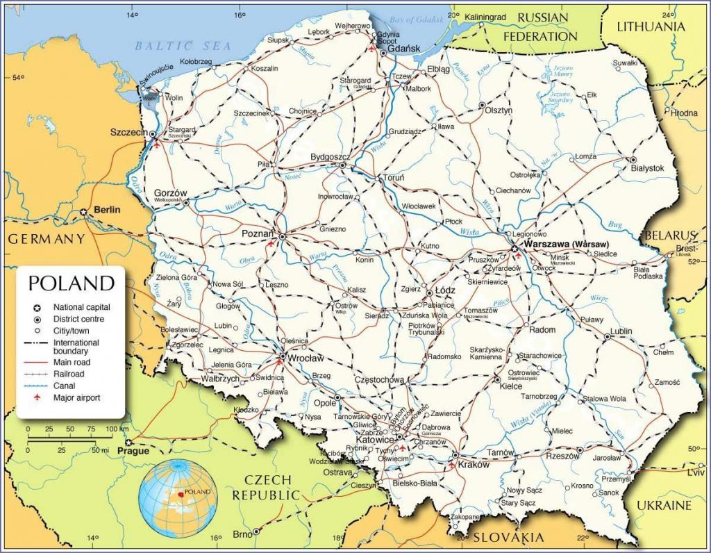 Printable Map Of Poland - Map Of Poland Printable (Eastern Europe throughout Printable Map Of Poland