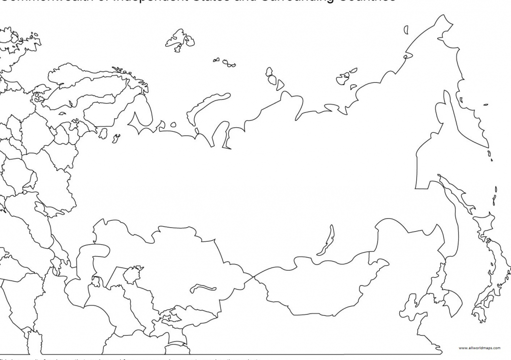 Printable Map Of Russia With Cities And States | All World Maps with Blank Russia Map Printable