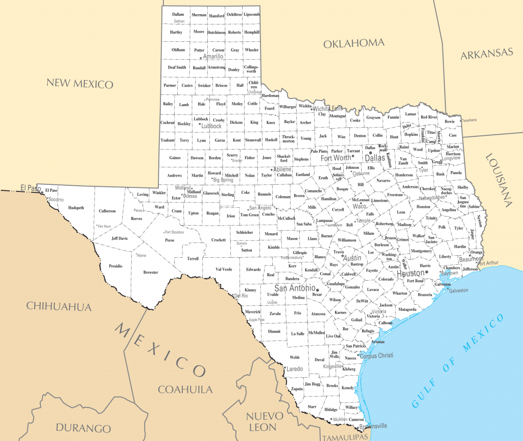 Printable Map Of Texas With Cities And Travel Information | Download throughout Printable Map Of Texas With Cities