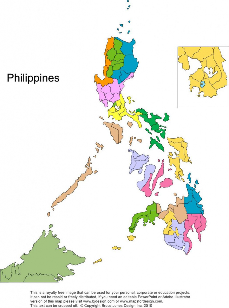 Printable Map Of The Philippines - Free Printable Map Of The pertaining to Free Printable Map Of The Philippines