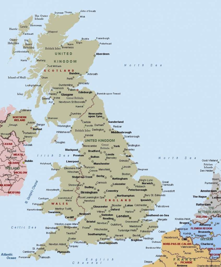 Printable Map Of Uk Towns And Cities - Printable Map Of Uk Counties within Printable Map Of Uk Cities And Counties