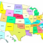 Printable Map Of Us Time Zones Usa Time Zone Map Lovely United With Regard To Printable Map Of The United States