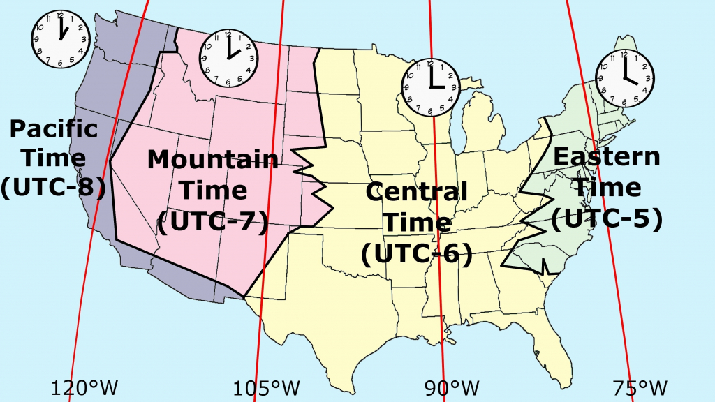 Printable Map Of Us Time Zones Zone Florida United States regarding Printable Us Time Zone Map