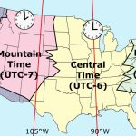 Printable Map Of Us Time Zones Zone Florida United States Throughout Printable Us Timezone Map