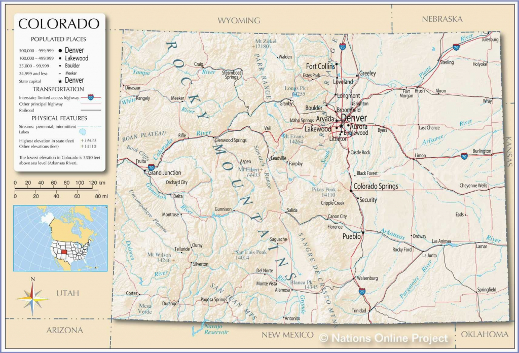 Printable Map Of Us With Major Cities New Denver County Map in Printable Map Of Colorado
