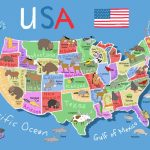 Printable Map Of Usa For Kids | Its's A Jungle In Here!: July 2012 With Printable State Maps For Kids