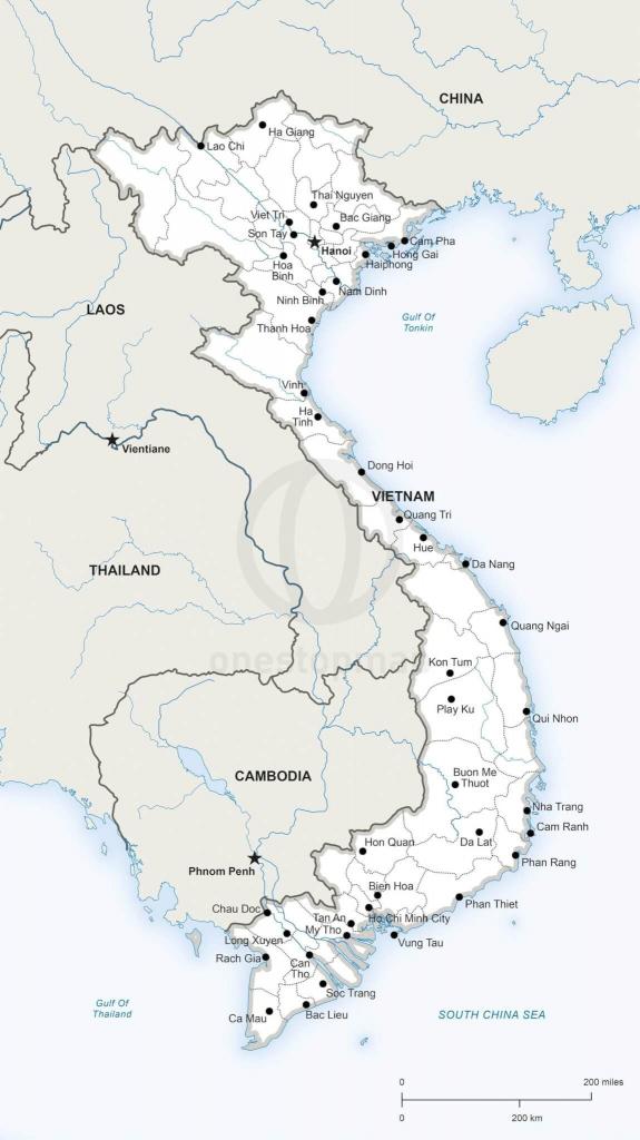 Printable Map Of Vietnam | Printable Maps | Geography | Vietnam Map in Printable Map Of