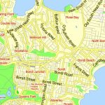 Printable Map Sydney, Australia, City Plan 2000 M Scale Adobe With Regard To Printable Street Map Of Port Macquarie