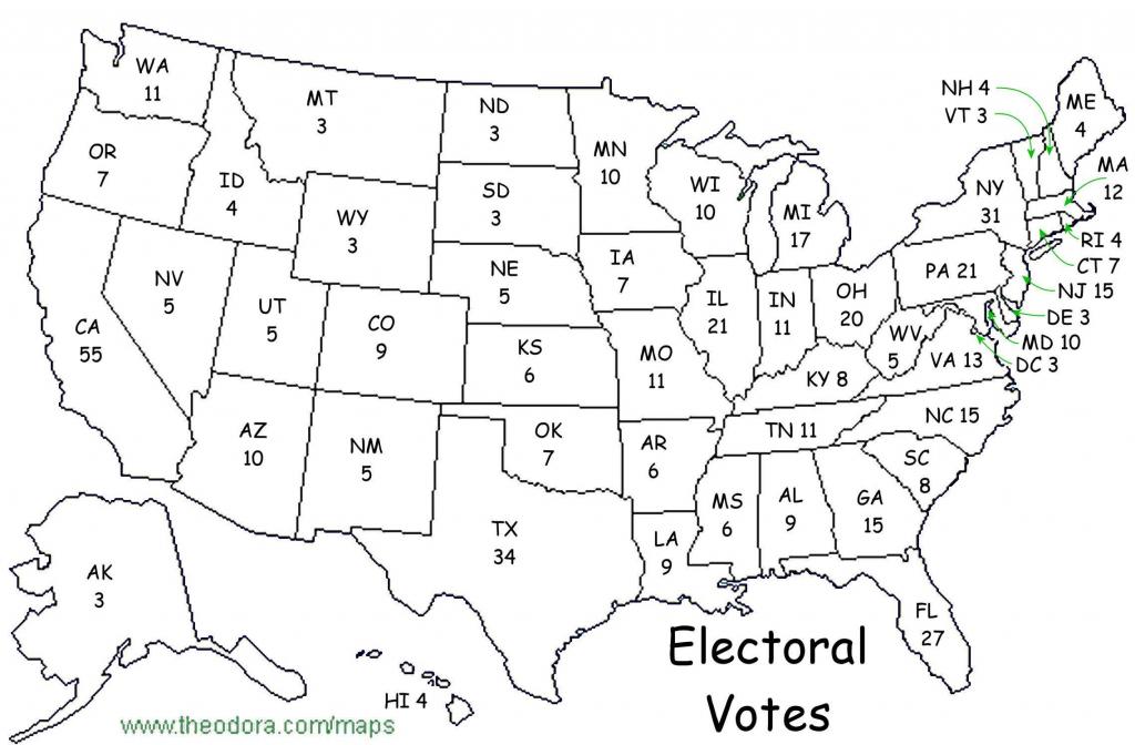 Printable Maps Blank Electoral Map 2016 20 Blank Electoral Map 2016 with 2016 Printable Electoral Map