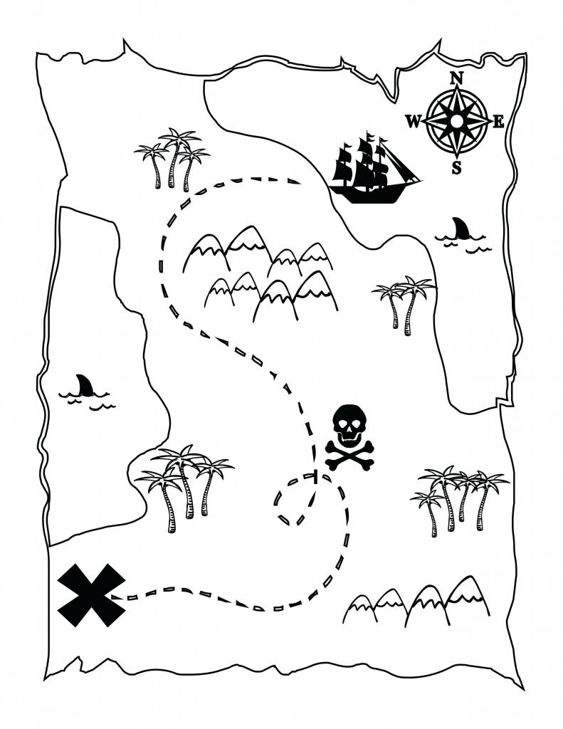 Printable Maps For Kids Genuine Pirate Treasure Map To Print regarding Printable Maps For Children