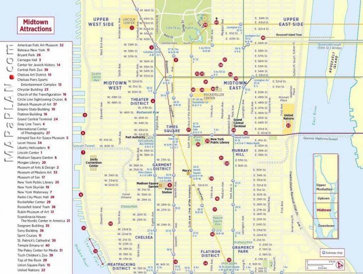 Free Printable Map Of New York City