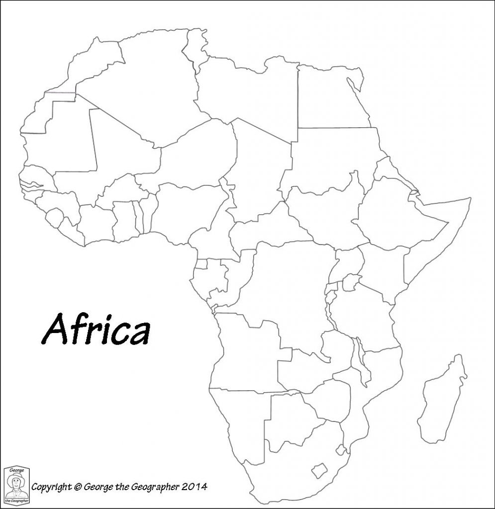 Printable Maps Of Africa | Sitedesignco pertaining to Africa Outline Map Printable