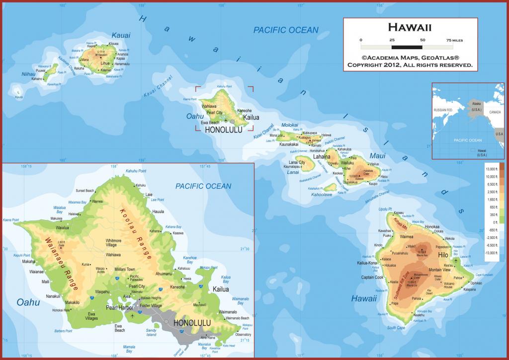Printable Maps Of Hawaii And Travel Information | Download Free within Printable Map Of Hawaii