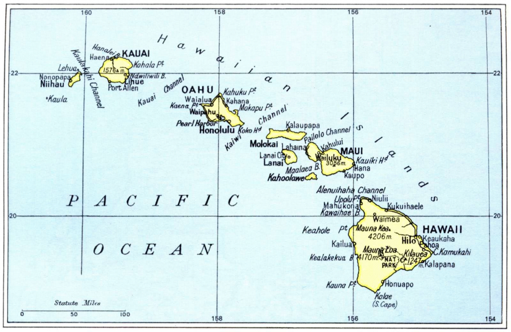 Printable Maps Of Hawaii Islands | Free Map Of Hawaiian Islands 1972 regarding Printable Map Of Hawaii