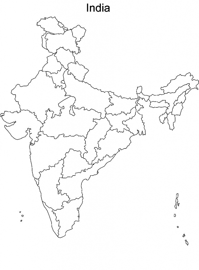 Physical Map Of India Blank Printable | Printable Maps