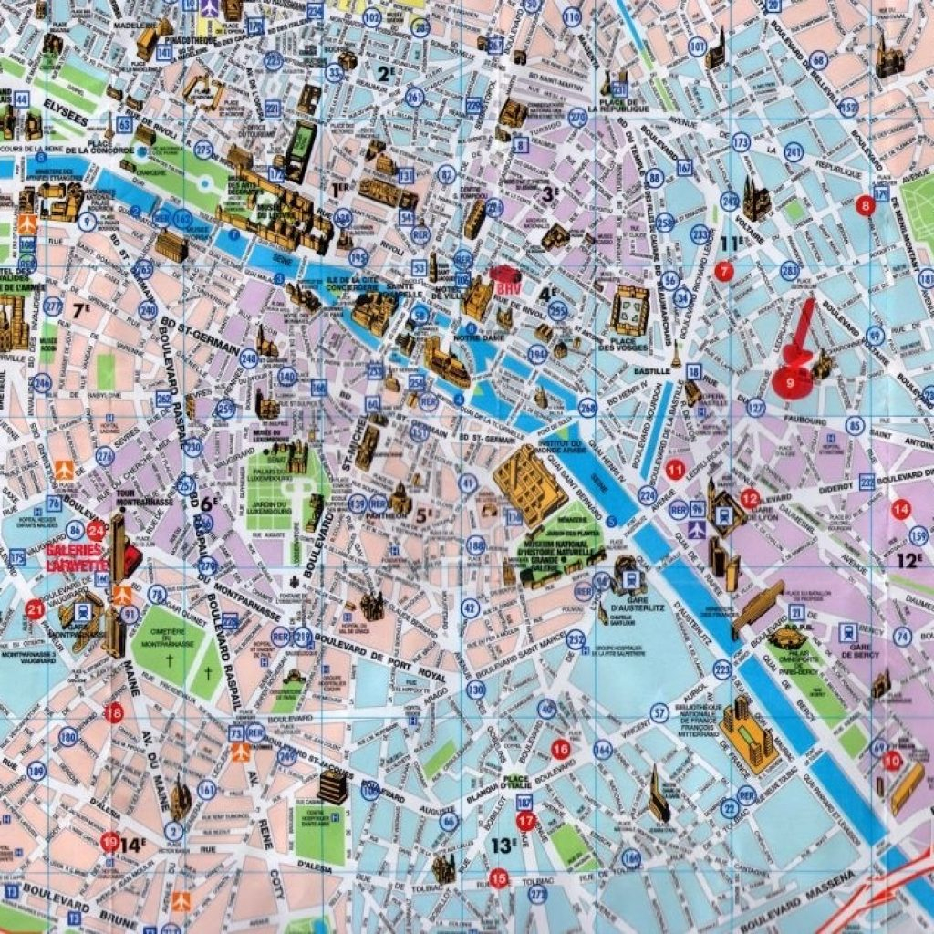 Printable Maps Of Paris 12 Map Com in Paris Tourist Map Printable